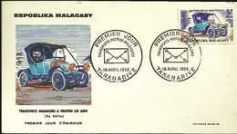 PREMIER JOUR - MADAGASCAR - Tananarive - 18 04 66 - TRANSPORTS POSTAUX MALGACHES
