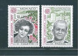Monaco Timbres De 1980   N°1224 Et 1225  Europas  Neuf ** - Monaco