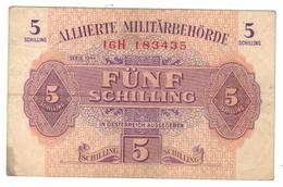 Austria 5 Shilling, WWII.  1944, VF . Free S & H To USA. - Autriche