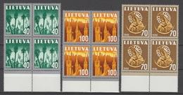 LITUANIE  YVERT N°406/8  COMPLETE SET  **MNH    Ref  5157 N
