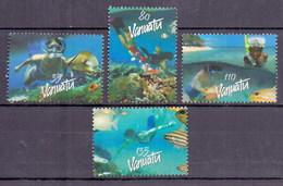 Vanuatu Fish, Marinelife, Diving (4v) MNH (M-417)