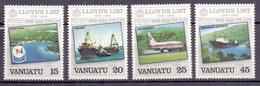 Vanuatu 1984 Lloyd´s List News Paper, Ship (4v) MNH (M-417)