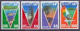 Vanuatu 1986 Volcan, Eind Surfing, Saut Du Gaul, Scuba Diving, Fish, Ship, Sailing, Tourism (4v) MNH (M-417)