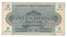 Austria  2 Shilling, WWII.  1944, VF . Free S & H To USA. - Austria