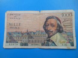 1000 Francs Richelieu 6-5-1954 N°83979 Fayette 42/5 TB Cote 25€ - 1871-1952 Gedurende De XXste In Omloop