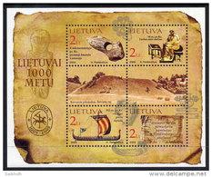 LITHUANIA 2002 Millenary Of Lithuania (II) Block MNH / **.  Michel Block 25
