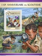 DJIBOUTI 2017 - Scouts, Butterflies S/S. Official Issue - Butterflies