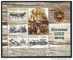 LITHUANIA 2003 Millenary Of Lithuania (III) Block   MNH / **.  Michel Block 27