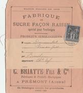 SAGE 1C SUR CATALOGUE MAISON BRIATTE FABRIQUE DE PRODUITS OENOLOGIQUES PREMONT AISNE - Autres Collections