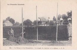02 CPA La PICARDIE Illustrée N° 104 PUB Maison SARAZIN à SAINT QUENTIN La BRIQUE Et Les BRIQUETIERS Ouvriers Au Travail - Saint Quentin