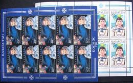 Kazakhstan  1999 Cosmonauts Of Kazakhstan 2 M/sheets  MNH