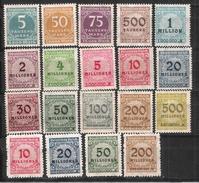 Reich N° 291 à 309 Neufs ** (les 300 Et 303 Sont *)