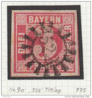 Bayern Bavaria 3 Kr. Rosarot Mi 9a Mühlrad '522' Tirschenreuth (m155) - Bavière
