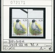Buzin - Belgien - Belgique - Belgium - Belgie - Michel 3428 OR-PaarPlatte 1 - Vögel Oiseaux Birds - ** Mnh Neuf Postfris - 1985-.. Birds (Buzin)
