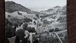 CPSM POLIGNY JURA VUE PANORAMIQUE SUR LE SEMINAIRE DE VAUX  EN AVION AU DESSUS DE LAPIE 2 1950 - Poligny