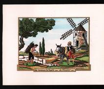 Jean GRADASSI Illustrateur Enlumineur,Le Vendeur De Fagots, Le Meunier , Format: 14,5 X 12 Cm - Contemporain (à Partir De 1950)