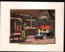 Jean GRADASSI Illustrateur Enlumineur,Le Porteur De Pain, La Fileuse, Format: 14,5 X 12 Cm - Contemporain (à Partir De 1950)