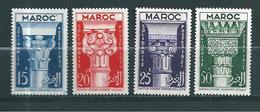 France Colonie Timbres Du Maroc De 1952 N°315 A 318  Neufs * - Neufs