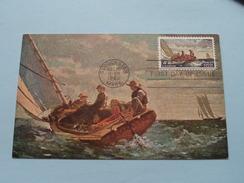BREEZING UP () Stamp Gloucester MASS Dec 15 1962 First Day Of Issue ( Voir / Zie - Photo / Foto ) ! - Maximumkarten (MC)