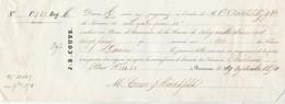 Billet 19/9/1850 COUVE Assurance  Bordeaux Gironde - Navire Garonne Pour Christiana Norvège - 1800 – 1899