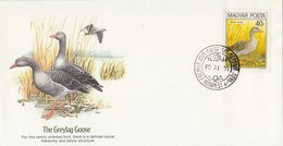 HUNGARY 1980 FDC With Geese