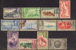 11093 Barbados 194/205 Paisagens E Monumentos Diversos U - Barbados (...-1966)