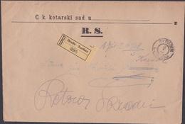 SKRADIN , Complete Court Summons, To Bribirske Mostine And Retour, 1918 - Briefe U. Dokumente