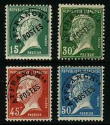 FRANCE - YT PREO 65 à 68 - LES 4 TIMBRES PASTEUR - 4 TIMBRES SANS GOMME - Vorausentwertungen