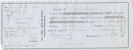 Billet 1/12/1850 COUVE Assurance Union Des Ports Bordeaux Gironde Navire BERTHA Voyage Bordeaux à St Pétersbourg Russie - 1800 – 1899