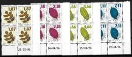 France Coins Datés Préoblitéres 1996 Feuilles D'arbres  Yv.Nr. Préo 236/239 Neuf Sans Charnière  ** - Prematasellados
