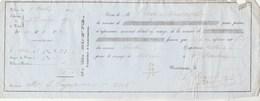 Billet 1850 COUVE Assurance Bordeaux Gironde - Navire BERTHA Voyage Bordeaux à St Pétersbourg Russie - 1800 – 1899