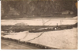 RHEIN BINNENVAARTSCHIP WINTER 1929 FOTOKAART Naam  Co Flower Merksem België ?  Niet Verzonden 1060 D1 - Péniches