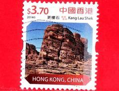 HONG KONG - Usato - 2014 - Paesaggi Di Hong Kong - Kang Lau Shek - 3.70 - 1997-... Regione Amministrativa Speciale Della Cina