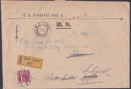 ŠIBENIK, Complete Court Summons To Klis And Returned, 1915 - Briefe U. Dokumente