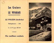 Calendrier, Le Vivarais, Le Pouzin Ardeche, 1955    (bon Etat) - Calendriers