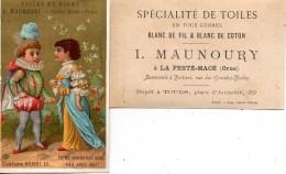 61 LA FERTE-MACE Maison Maunoury Spécialité De Toiles LOT De 2 Chromos - La Ferte Mace