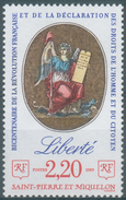 Saint Pierre And Miquelon, French Revolution, Liberty, 1989, MNH VF - St.Pierre & Miquelon