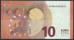 FRANCE  10 EURO  UD U002 G4   DRAGHI   UNC - EURO