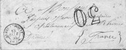 73x   Courrier Lettre 1855 écrite De Constantinople Cachet Armée D'orient 1855 - Turkey