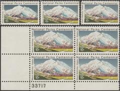 Etats-Unis 1972  Y&T 954. Curiosités D'impressions. Parcs Nationaux. Alaska, Mont McKinley Ou Denali, 6190 Mètres. Cerfs - Géologie
