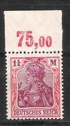 Reich N° 129 Neuf ** Michel 151 P OR