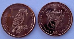 GALAPPAGOS 2008  CENTAVO UCCELLO FDC NON UFFICIALE - Monnaies