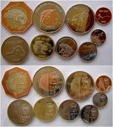 ANTILLE OLANDESI SABA 2013 SERIE 9 MONETE CON 3 BIMETALLICHE INUSUAL CONIAGE NOT FOR CIRCULATION - Antille Olandesi