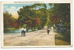 ETATS UNIS - Town Pond And Road, East Hampton, L. I. - Etats-Unis