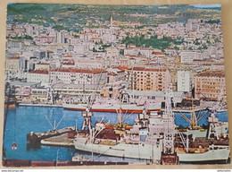 RIJEKA - YUGOSLAVIA (CROATIA) - PORT - AERIAL VIEW - Joegoslavië