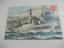 Nave Ship FREGATA MISSILISTICA SAGITTARIO ANNULLO PRIMO GIORNO DI ARMAMENTO  ILLUSTRATORE VEDI FIRMA - Guerra