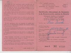 Salute Medicina Medicine Argentina Certificadi Contra La Viruela 1958  Vaiolo - Salute