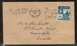 MALTA   Scott #257 On 1961 AIRMAIL COVER To BEACONSFIELD,QUE. CANADA (4/OCT/1961) - Malta