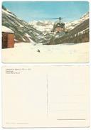 Ceresole Reale TO Elicottero In Atterraggio Sfondo Monte Basei Cartolina Nuova - Italy