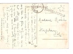 CP De Beverloo Datée 10/2/1919 En SM Griffe Bourg Léopold + C.Gingelom 13/2/.. PR4290 - Postmark Collection